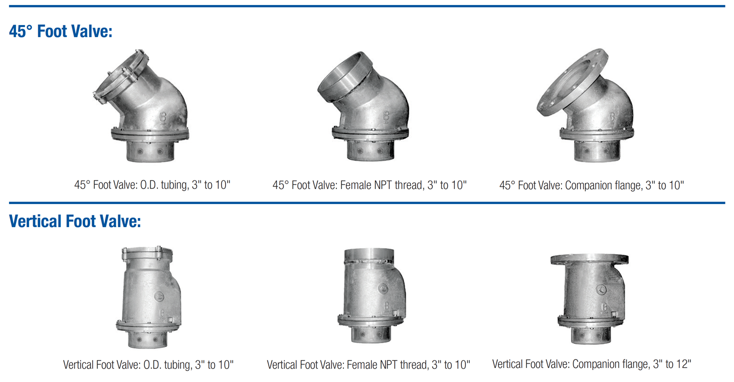 Foot Valves | Sure-Flo Fittings